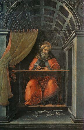 290px-Sandro_Botticelli_-_St_Augustin_dans_son_cabinet_de_travail
