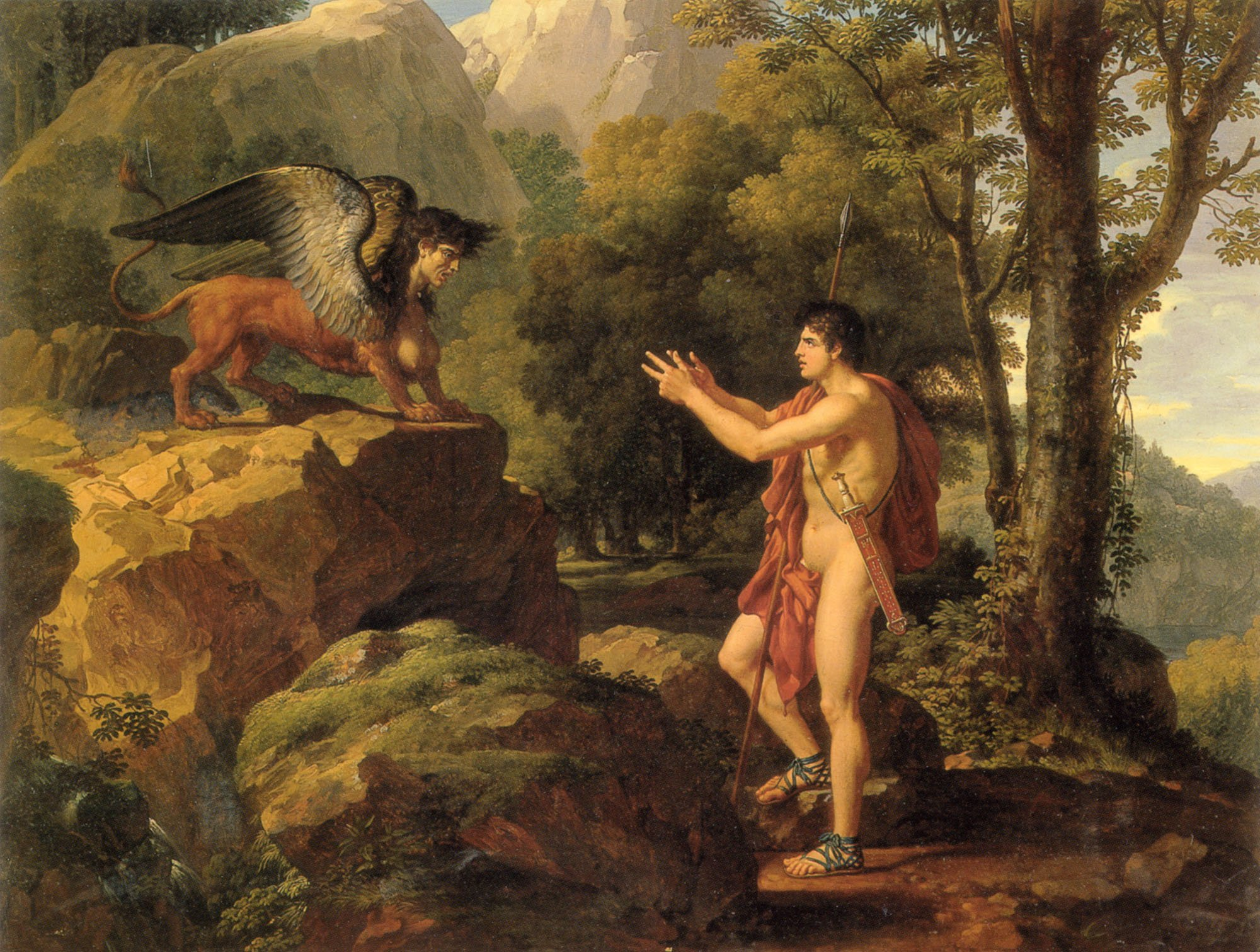 Oedipus-and-the-Sphinx-Francois-Xavier-Fabre-Oil-Painting-1