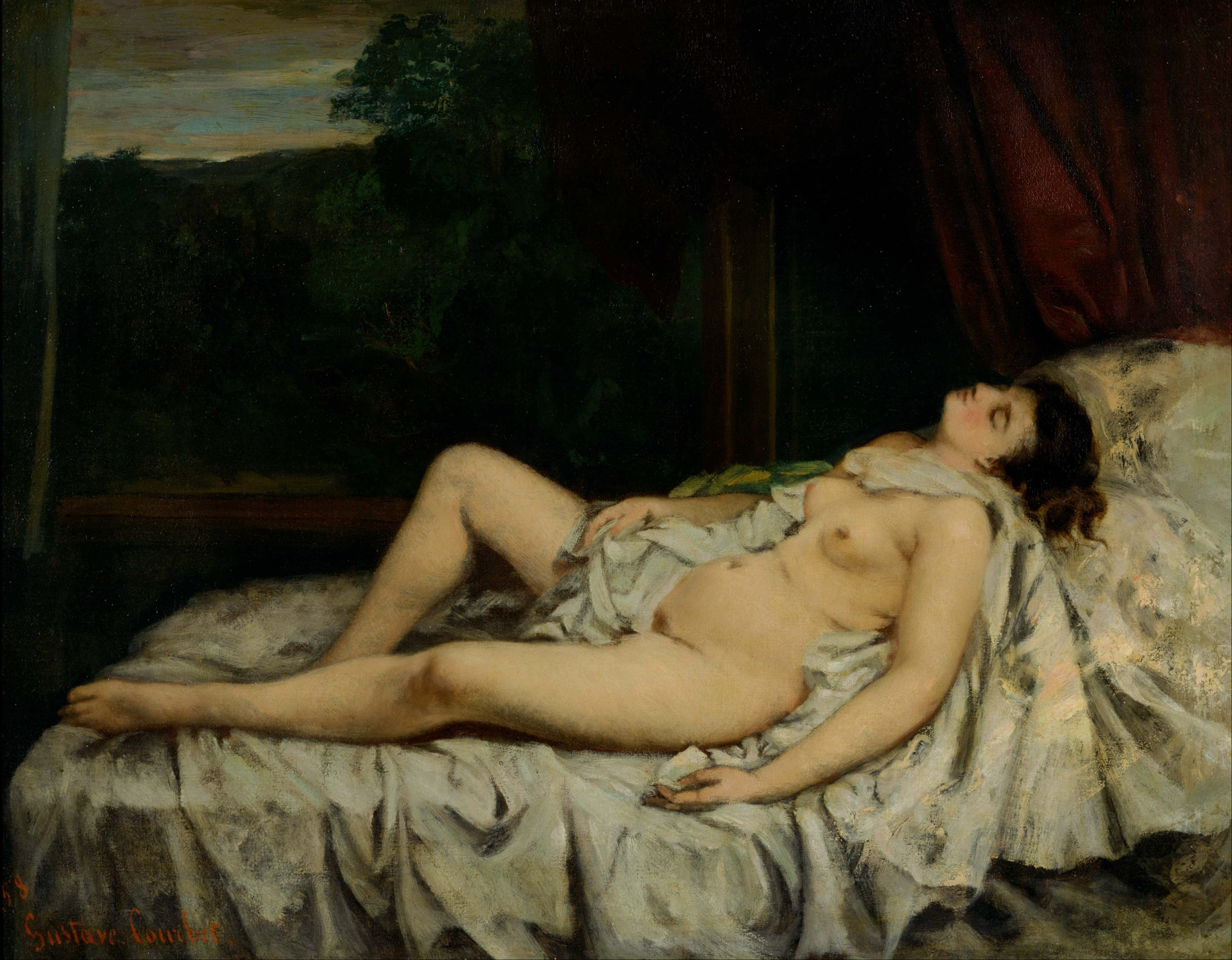 Gustave_Courbet_-_Sleeping_Nude_-_Google_Art_Project